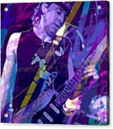 Stevie Ray Vaughan Sustain Acrylic Print by David Lloyd Glover
