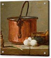 Still Life Acrylic Print by Jean-Baptiste Simeon Chardin