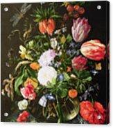 Still Life Of Flowers Acrylic Print by Jan Davidsz de Heem