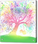 Still More Rainbow Tree Dreams 2 Acrylic Print by Nick Gustafson