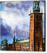 Stockholm Sweden Acrylic Print by Irina Sztukowski
