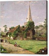 Stoke Poges Church Acrylic Print by Jasper Francis Cropsey