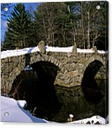 Stone Double Arched Bridge - Hillsborough New Hampshire Usa Acrylic Print by Erin Paul Donovan