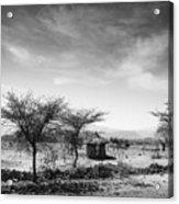 Stone Hut Set In Grassland Plains Acrylic Print by David DuChemin