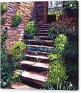 Stone Steps Tuscany Acrylic Print by David Lloyd Glover