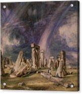 Stonehenge Acrylic Print by John Constable