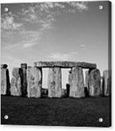 Stonehenge On A Clear Blue Day Bw Acrylic Print by Kamil Swiatek