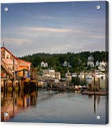 Stonington Lobster Co-op Acrylic Print by Susan Cole Kelly