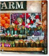 Store - Westfield Nj - The Flower Stand Acrylic Print by Mike Savad