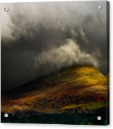 Storm Brewing Over Hawkshead Acrylic Print by Meirion Matthias