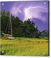Storm Over Knott's Island Acrylic Print by Charles Harden