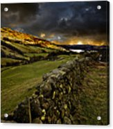 Storm Over Windermere Acrylic Print by Meirion Matthias