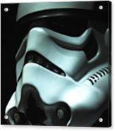 Stormtrooper Helmet Acrylic Print by Micah May