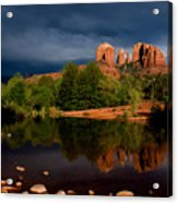 Stormy Day At Cathedral Rock Acrylic Print by David Sunfellow