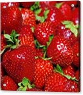 Strawberries Acrylic Print by Carlos Caetano