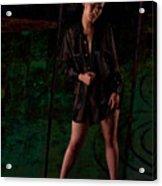 Studio Nude - Kasha No. 2c Acrylic Print by Paul W Sharpe Aka Wizard of Wonders