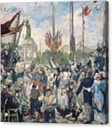 Study For Le 14 Juillet 1880 Acrylic Print by Alfred Roll