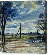 Suburban Landscape In Spring  Acrylic Print by Waldemar Rosler