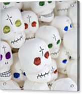 Sugar Skulls For Sale At The Day Acrylic Print by Krista Rossow