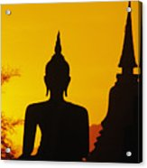 Sukhothai Temple Acrylic Print by Gloria & Richard Maschmeyer - Printscapes
