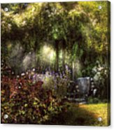 Summer - Landscape - Eve's Garden Acrylic Print by Mike Savad