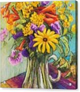 Summer Bouquet Acrylic Print by Candy Mayer