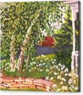 Summer Garden Acrylic Print by Lea Novak