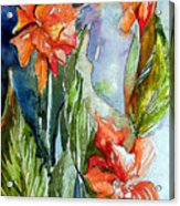 Summer Glads Acrylic Print by Mindy Newman