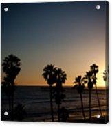 Sun Going Down In California Acrylic Print by Ralf Kaiser