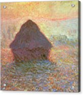 Sun In The Mist Acrylic Print by Claude Monet