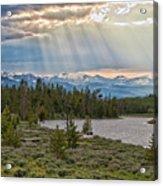 Sun Rays Filtering Through Clouds Acrylic Print by Trina Dopp Photography