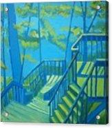 Suncook Stairwell Acrylic Print by Debra Robinson