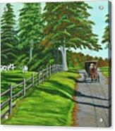 Sunday Drive Acrylic Print by Charlotte Blanchard