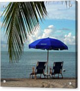 Sunday Morning At The Beach In Key West Acrylic Print by Susanne Van Hulst