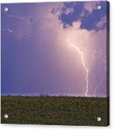 Sunflower Fields Lightning Storm Nature Print Acrylic Print by James BO  Insogna