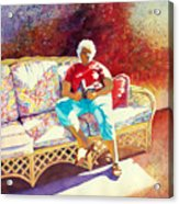Sunny Retreat 3 Acrylic Print by Kathy Braud