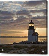 Sunrise At Brant Point Nantucket Acrylic Print by Henry Krauzyk