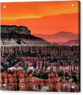 Sunrise At Bryce Canyon Acrylic Print by Photography Aubrey Stoll
