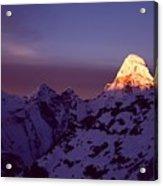 Sunrise At Mt. Ama Dablam Acrylic Print by Pal Teravagimov Photography