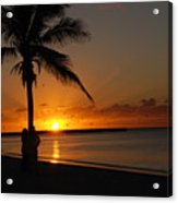 Sunrise In Key West Fl Acrylic Print by Susanne Van Hulst