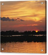 Sunrise Over Delacroix Island Acrylic Print by Medford Taylor