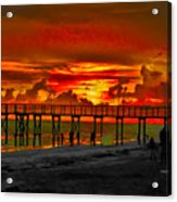 Sunset 4th Of July Acrylic Print by Bill Cannon