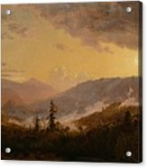 Sunset After A Storm In The Catskill Mountains Acrylic Print by Jasper Francis Cropsey