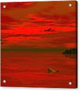 Sunset Arrival Acrylic Print by Claude McCoy