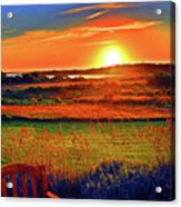Sunset Eat Fire Spring Rd Nantucket Ma 02554 Large Format Artwork Acrylic Print by Duncan Pearson