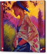 Sunset Acrylic Print by Ellen Dreibelbis