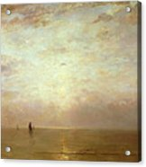 Sunset Acrylic Print by Hendrik William Mesdag