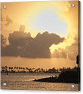 Sunset In San Juan Bay Acrylic Print by George Oze