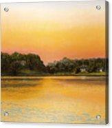Sunset Lake Acrylic Print by Joan Swanson