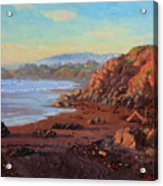Sunset On Cambria Ca Acrylic Print by Gary Kim